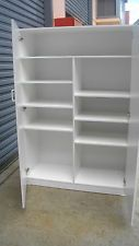 NEW CUSTOM PANTRY LINEN PRESS STORAGE CABINET CUPBOARD 13 COLOURS LIVERPOOL 2170