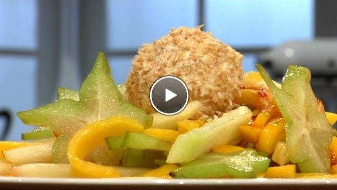 Thaise fruitsalade met ijs - recept | 24Kitchen