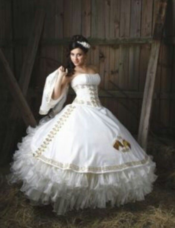 Ivory Mariachi Quincenera Gown