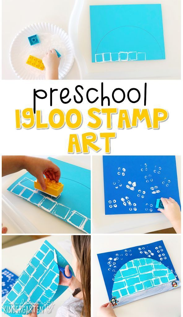 Preschool Igloo Stamp Art Kids Art Projects Preschool Crafts Winter Theme Preschool