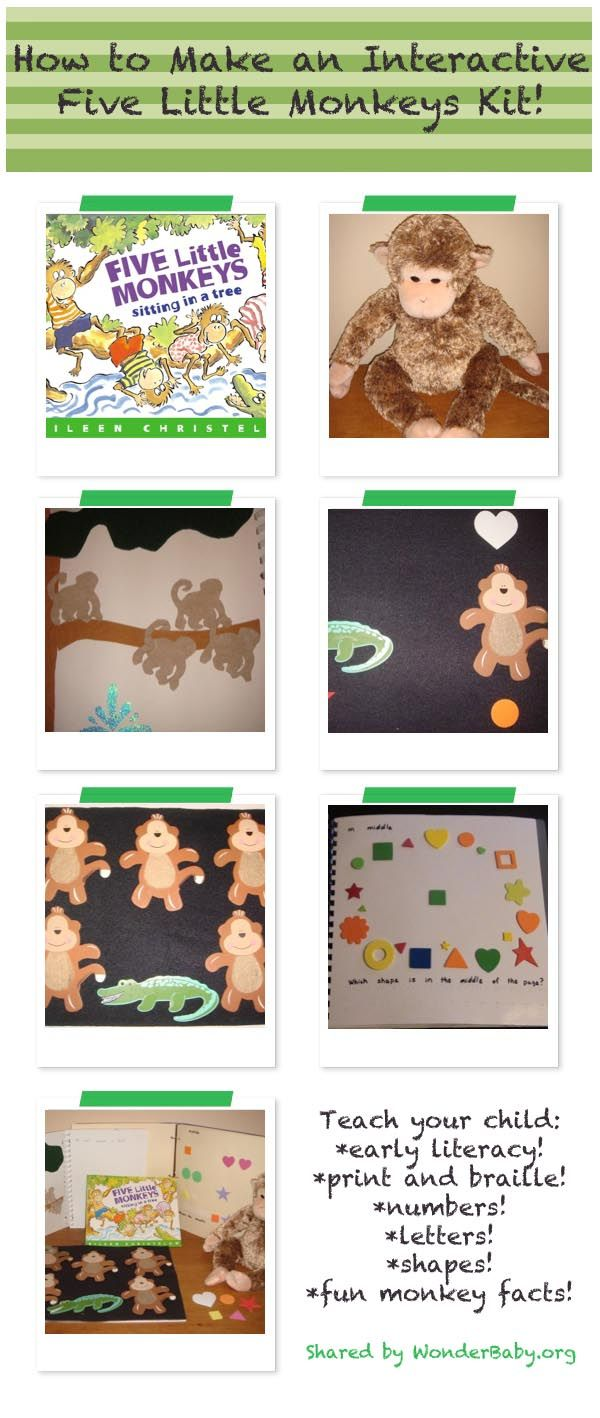 23 best five little monkeys jumping on the bed images on this post shows you how to make your very own accessible five little monkeys story kit amipublicfo Image collections