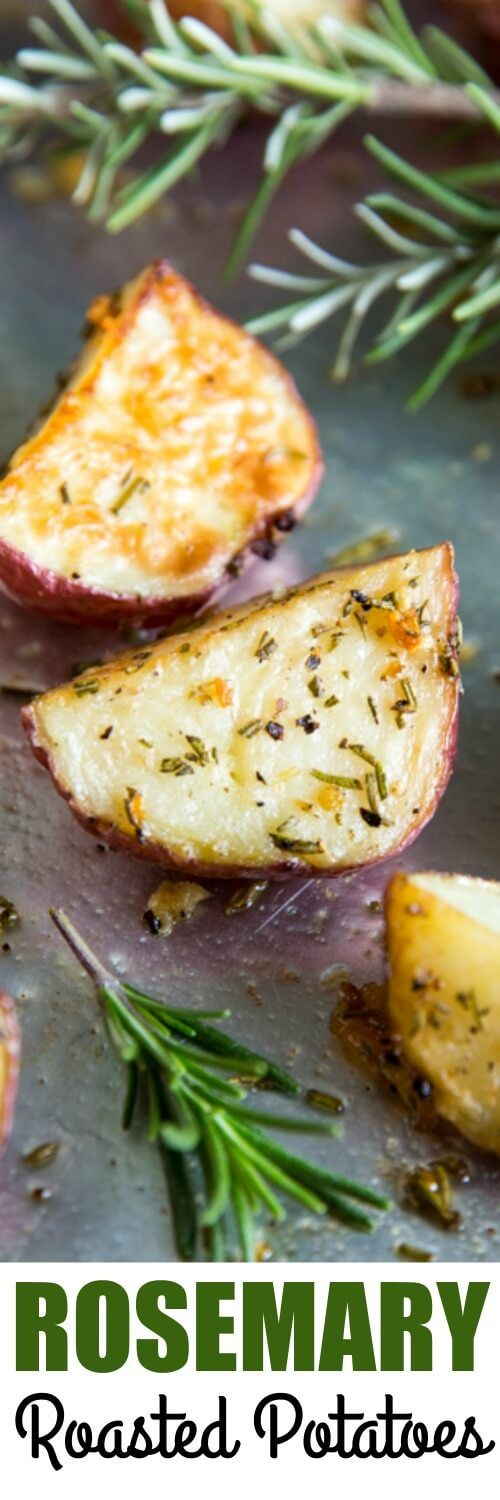 Rosemary Roasted Potatoes are an easy side dish with simple, rustic flavors. They are great for weeknights, weekends, and celebrations! via @culinaryhill