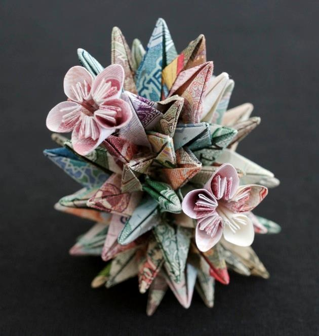 Origami from banknotes