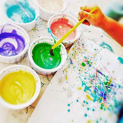 Ide Prakarya Anak Di Rumah : Fun Splatter Art