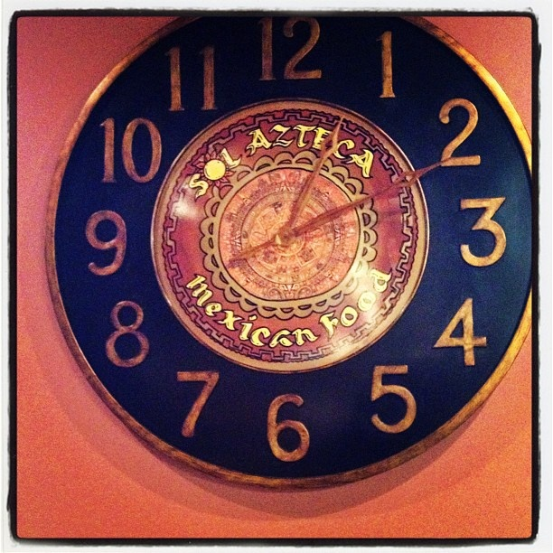 Sol Azteca Mexican Restaurant #Kentucky #photooftheday #Clock #Iphone #photoadaymay #instagram - @bakwai_photo- #webstagram