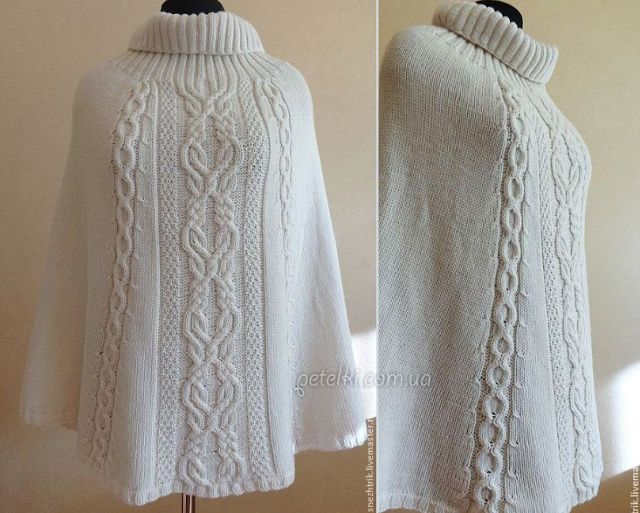 Poncho Crochet with recipe and tips - Knitting Yarn Patterns