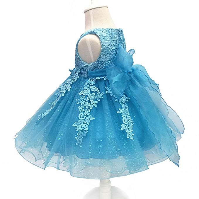 LZH Baby Infant Girls Birthday Christening Dress Baptism Wedding Party Flower