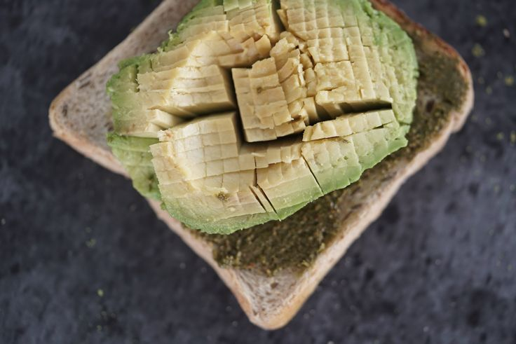 PIxelated Avocado with Matcha Almond butter (Matcha Maiden mixed with Almogeddun Astronut Almond butter)- seriously best combo ever!