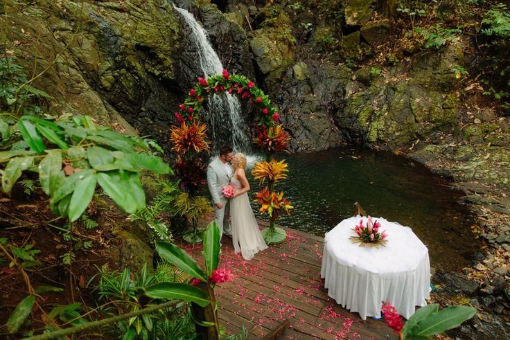 Nature's Chapel ... Waterfall Wedding at Namale Resort Fiji
