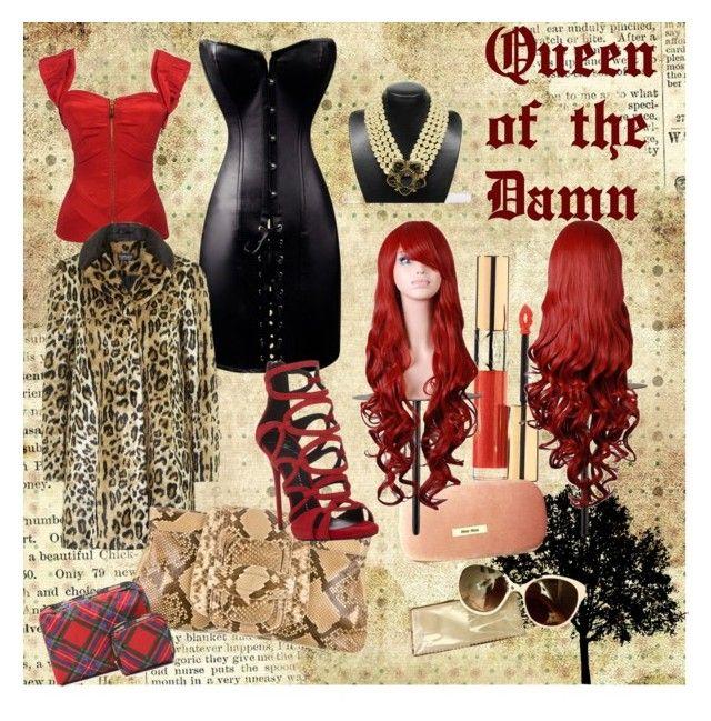 """Queen of The Damn"" by ibuperi on Polyvore featuring Chanel, Topshop, Oscar de la Renta, Giuseppe Zanotti, Yves Saint Laurent, Miu Miu and LeSportsac"