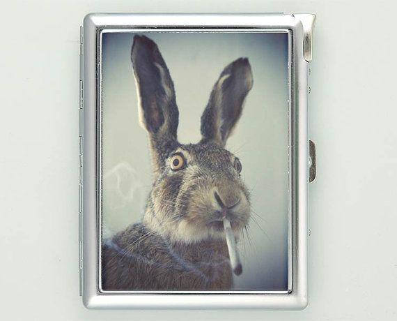 Rabbit Smoking Cigarette Case Lighter Wallet (cg-1454) on Etsy, 6,84€