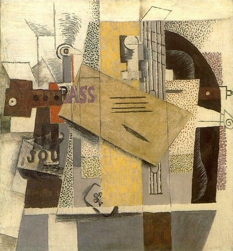 Pablo Picasso - Bass, Clarinet, Guitar and Violin, 1913