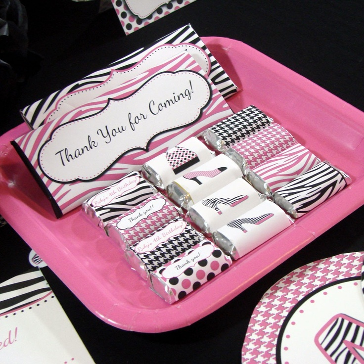 Diva Party Decorations | Diva Party Favor, Mini Hershey Bar Wrappers w/Custom Text -- Digital ...