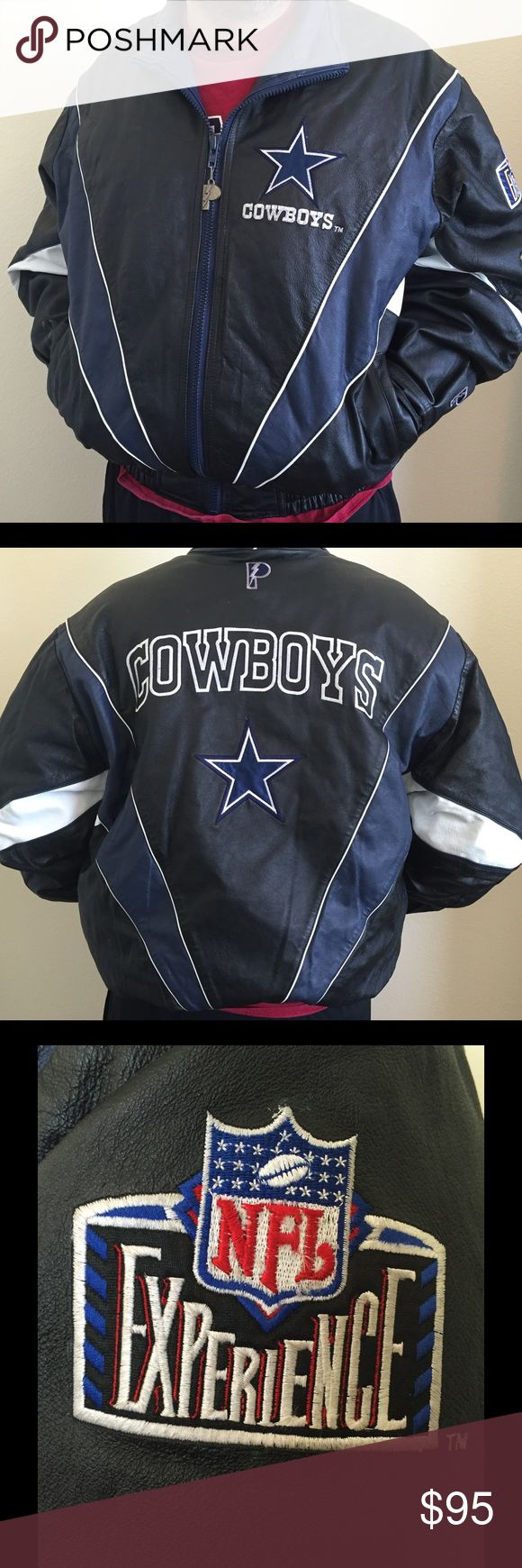 Dallas Cowboy Leather Jacket Dallas Cowboy Leather Jacket from Pro Layer size XL *price is firm, because it is $80 on ♏️ercari* Jackets & Coats