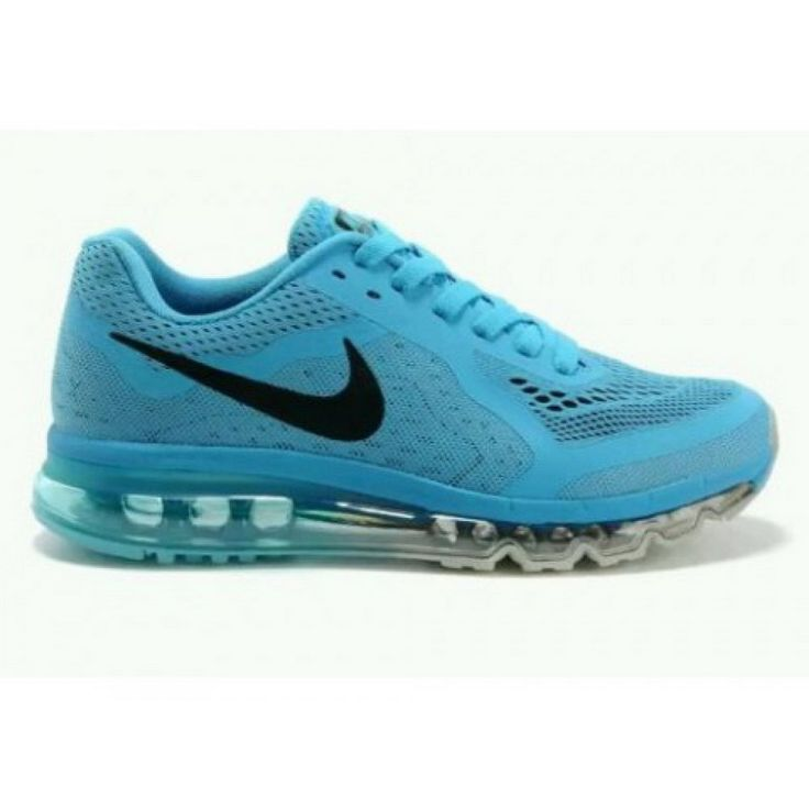 Nike Air Max 2014 New Running shoes Mens&Womens Black-White-Lake Blue