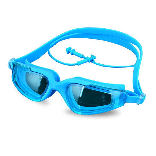 Swimming Goggles Earplugs One Piece Fashion Adult Swimming Water Sport Accessories Waterproof Anti-UV Swim Diving Goggle Earplug