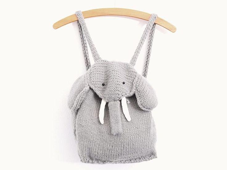 Tutoriel DIY: Tricoter un sac à dos éléphant pour enfant via DaWanda.com