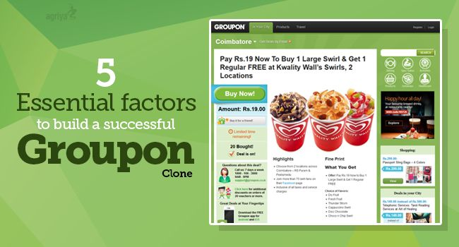 5 essential factors to build a successful #Groupon clone   To know more: http://www.clonescripts.co/2015/10/5-essential-factors-to-build-successful-groupon-like-site.html