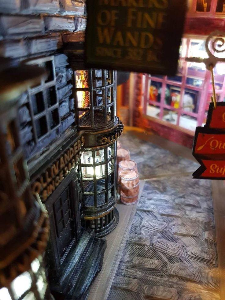 Book nook diagon alley ollivanders harry potter in 2020