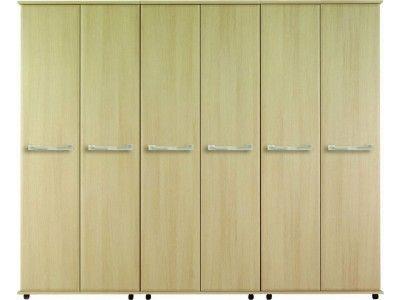 Oceana 90H 6 Door Standard Wardrobe available in Walnut & Beige and Oak finish £798.00