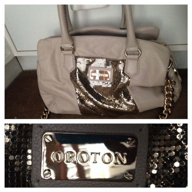 Oroton Slouch Bag with Glomesh detail and chunky chain Lifexuryxox