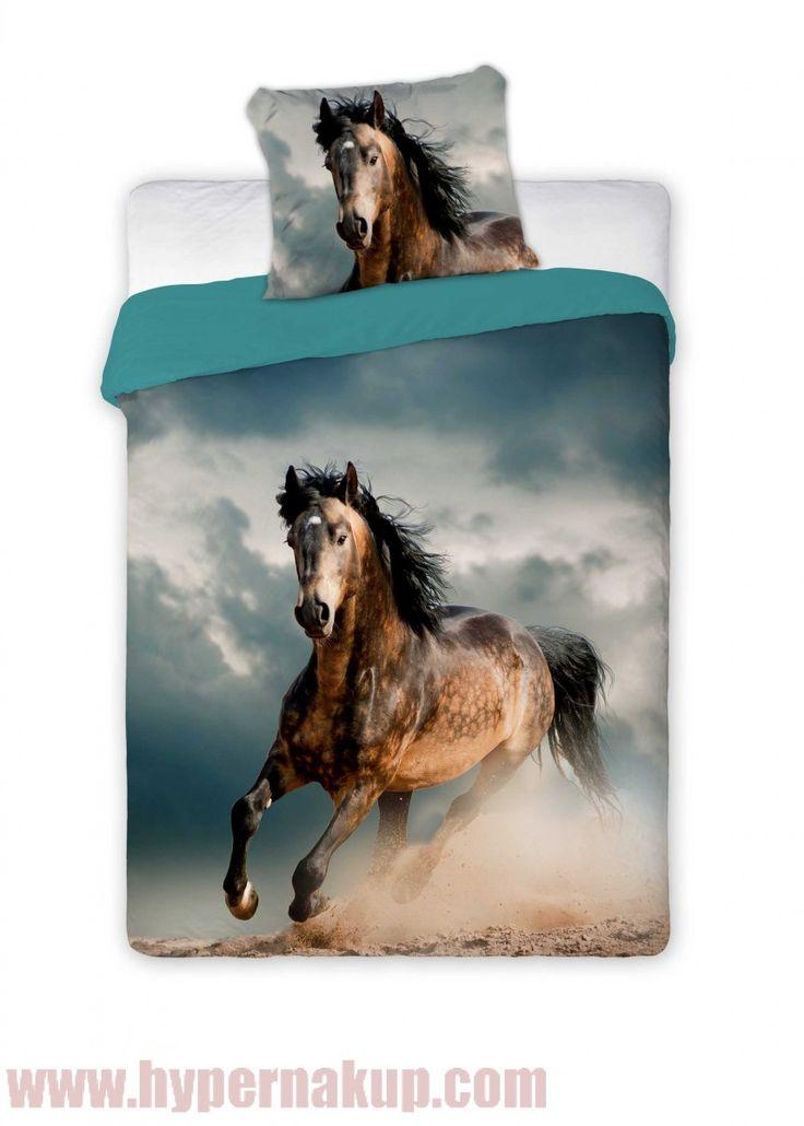 Bavlnené obliečky HORSE 140 x 200 cm