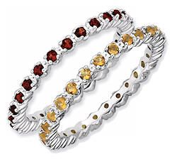 Stackable Mothers Rings- Birthstone Eternity Rings would love to have mine and each of the kids birthstones