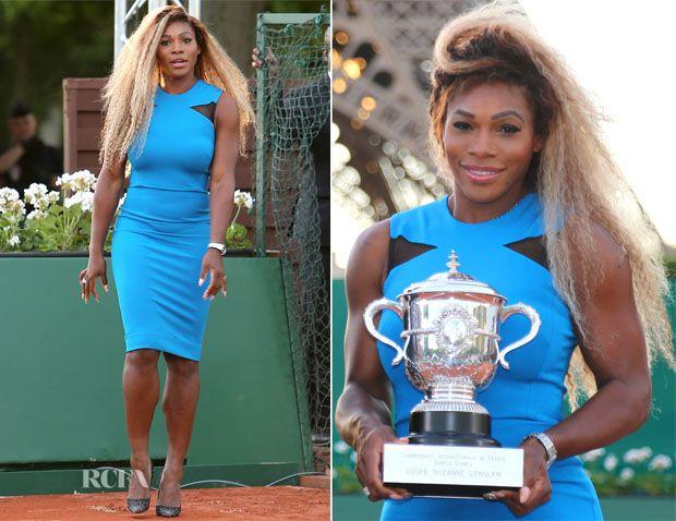 Serena Williams In Victoria Beckham – Rolland Garros 2014 (French Open) Promotion