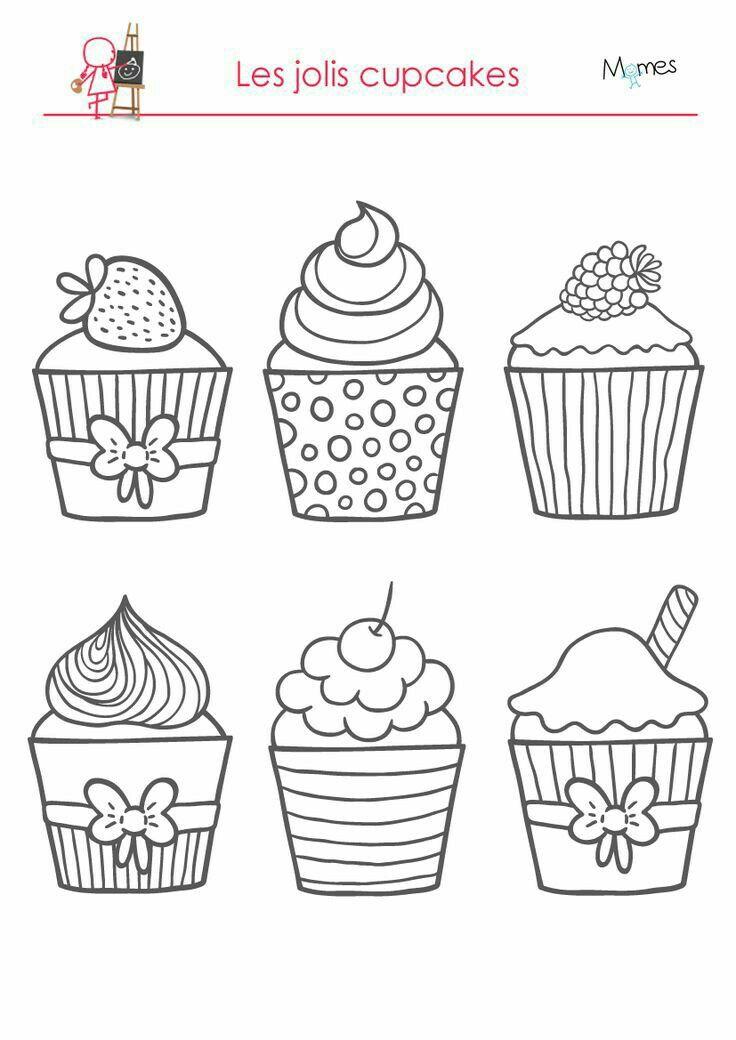 pinangela b on desene  cupcake coloring pages