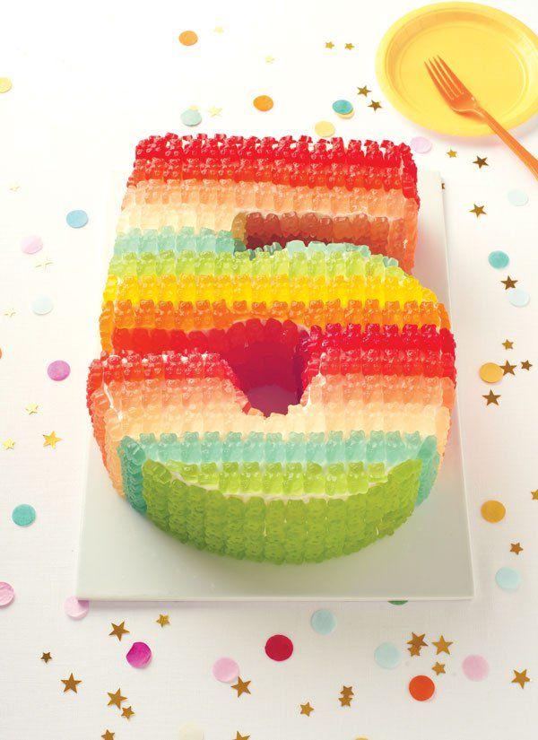 Spezielle Gummibärchen Torte Zum Fünften Geburtstag