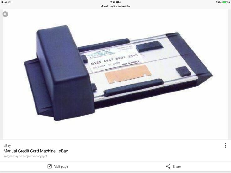 Old school credit card machine