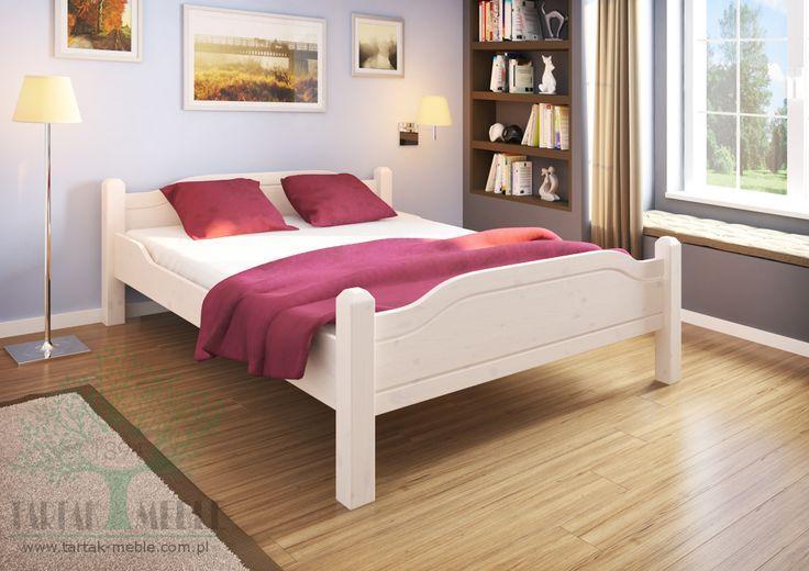 Białe łóżko sosnowe Liva to dobry wybór dla każdej sypialni i gwarancja komfortowego wypoczynku. #bed #bedroomfurniture #shoponline #tartakmeble #design