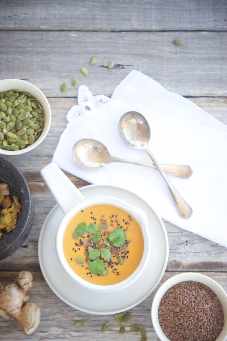 Tangy Sweet Potato and Pumpkin Soup