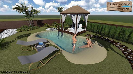 8 best proyectos en 3d para piscinas de arena images on - Piscinas de arena precios ...