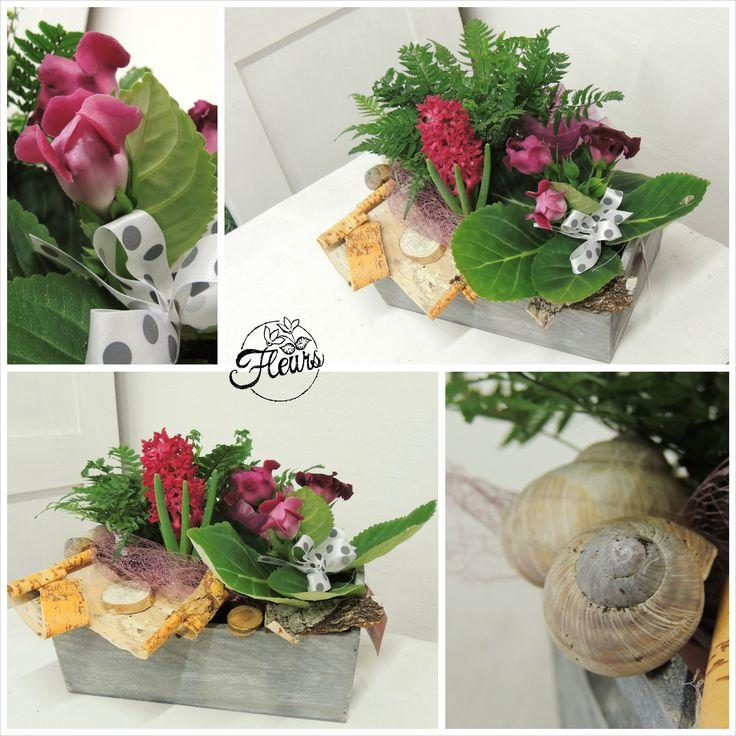 Jarní dekorace do růžova / Květiny Fleurs #spring #pink #hyacint #decoration #arrangement
