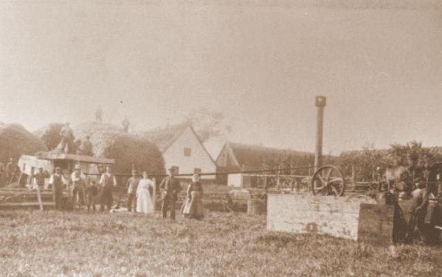 Tærskning med lokomobil 1920