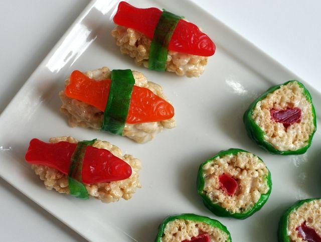 rice krispies sushi