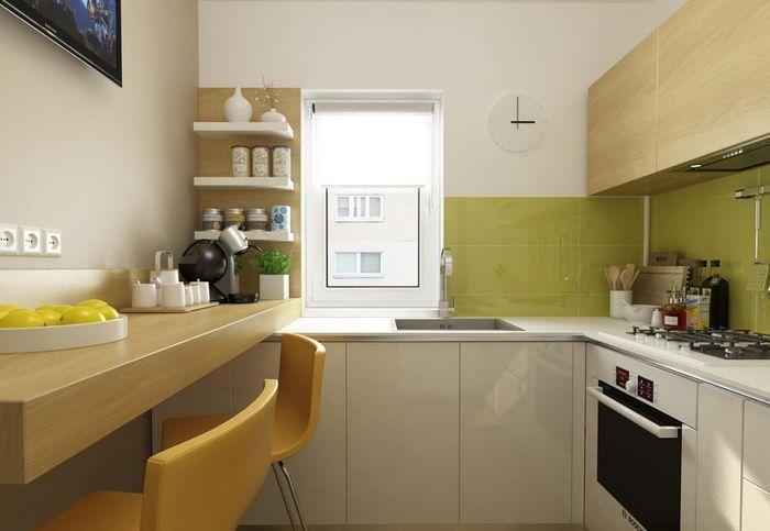 Маленькая кухня с простым дизайном на 4-6 м2. кухня, дизайн интерьера, ремонт, длиннопост