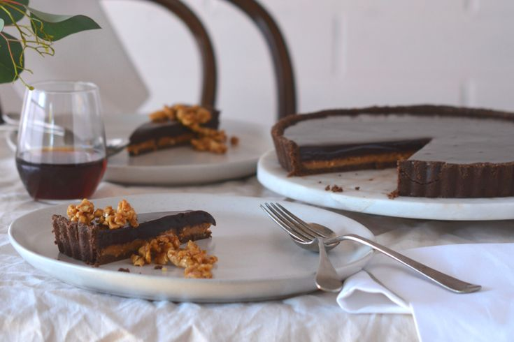 No Bake Chocolate and Peanut Caramel Tart - Maggie Beer