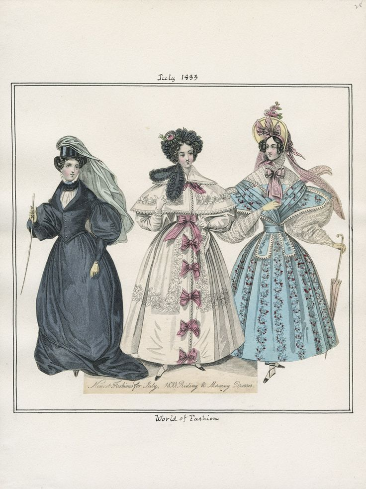 July 1833 Casey Fashion Plates Detail | Los Angeles Public Library