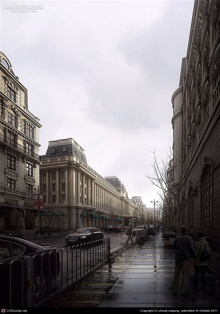 CGTalk - Rain Street, zhang naigang (3D)