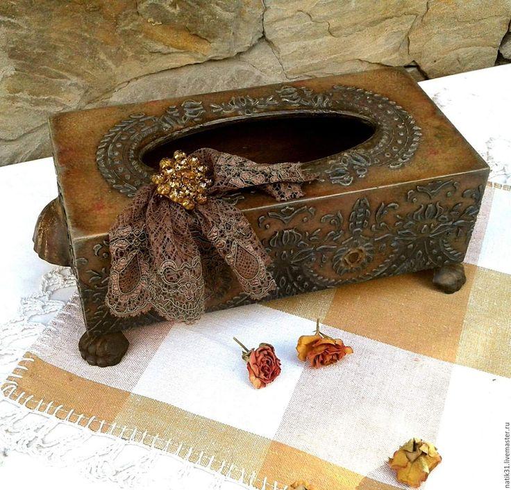 Купить Винтажная салфетница - шкатулка ручной работы, шкатулка для украшений, подарок, подарок на любой случай