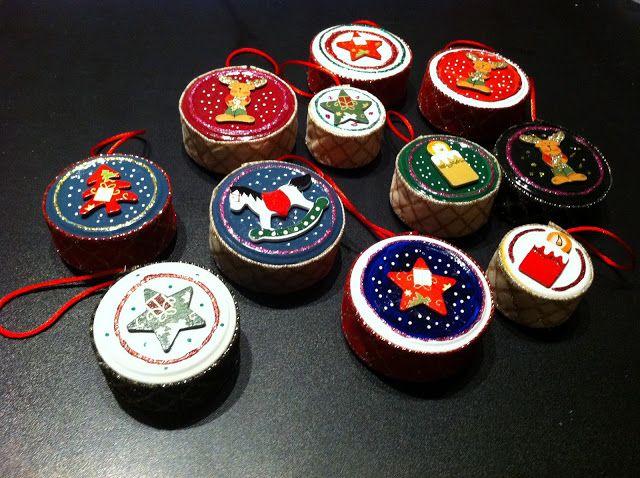 Blue Cuckoo Studio: Decorazioni natalizie all'insegna del riciclo!