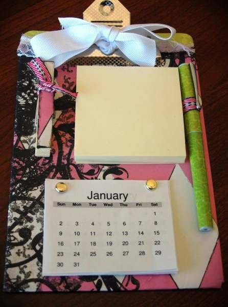 Mini Altered Clipboard Organizer by kinetickatie - Cards and Paper Crafts at Splitcoaststampers