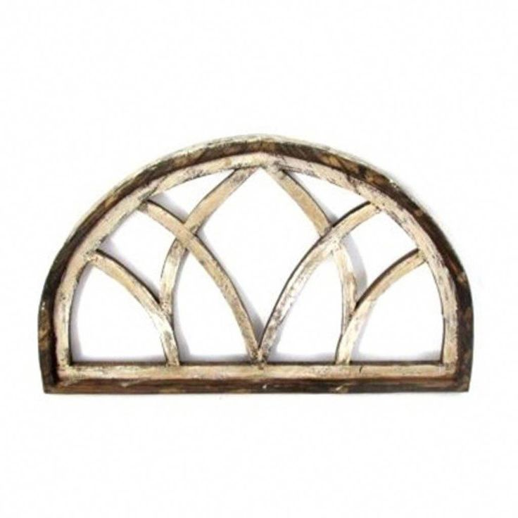 Farmhouse half moon treviso wood window arch
