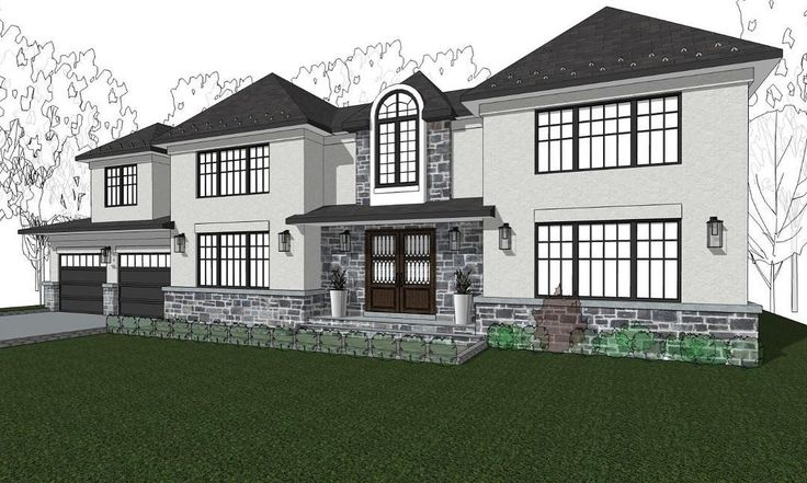 A brand new contemporary spec home we are designing in Paramus NJ. Inquire if you would like to know more about this home, it's open floor plan and two story Great Room and Foyer.  #planarchitecture #photooftheday #house #home @benchmarkbuilders #realestate #real #luxury #luxurylife #new #design #architect #architecture #rendering #hamptonshomes