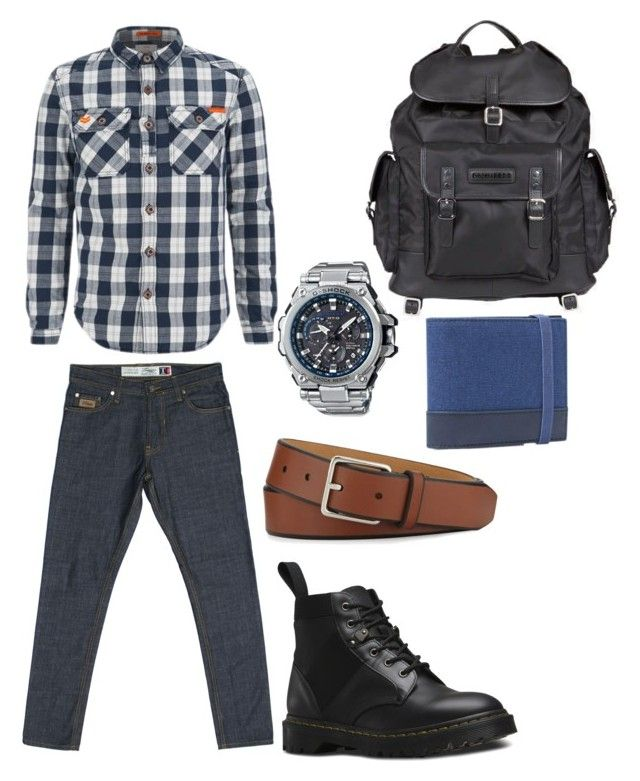 """""""Simple combination of Turquoise Raw T Series Denim"""" by turquoisedenim on Polyvore featuring Superdry, Dr. Martens, G-Shock, MANGO MAN, Cole Haan, Dsquared2, mens, men, men's wear and mens wear"""