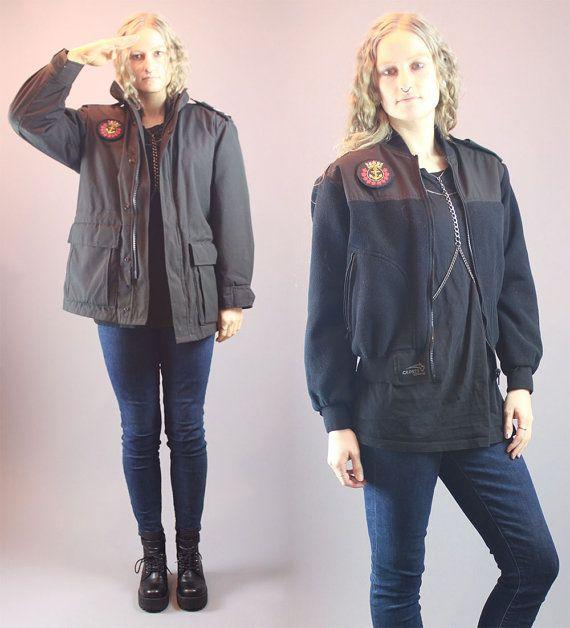 Vintage 90s Jacket Cadets Canada Sea 2 by BadassVintageRevival