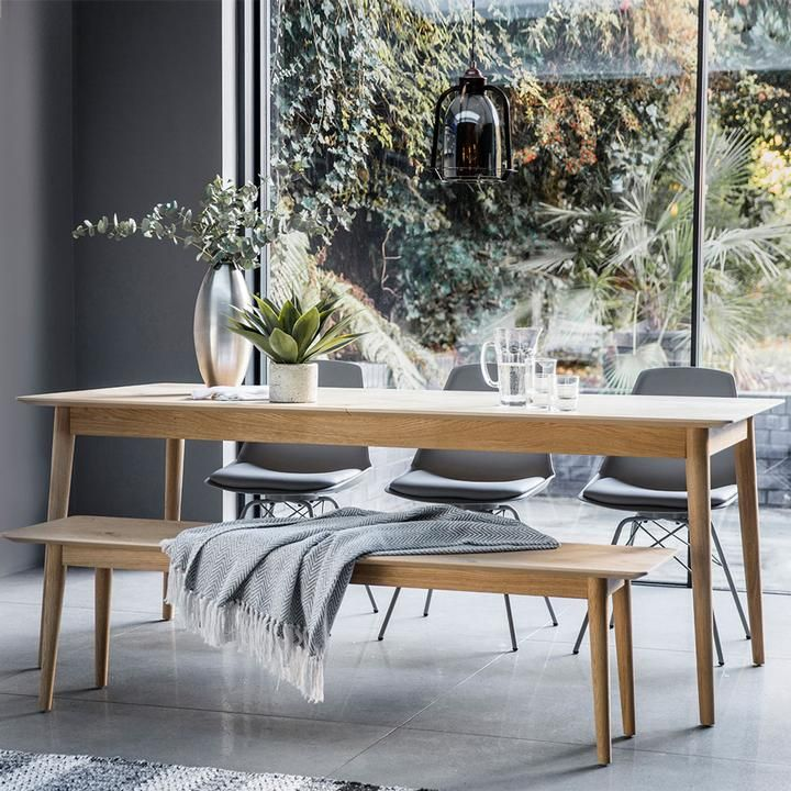 The Modern Light Oak Extending Dining Table 2m In 2019