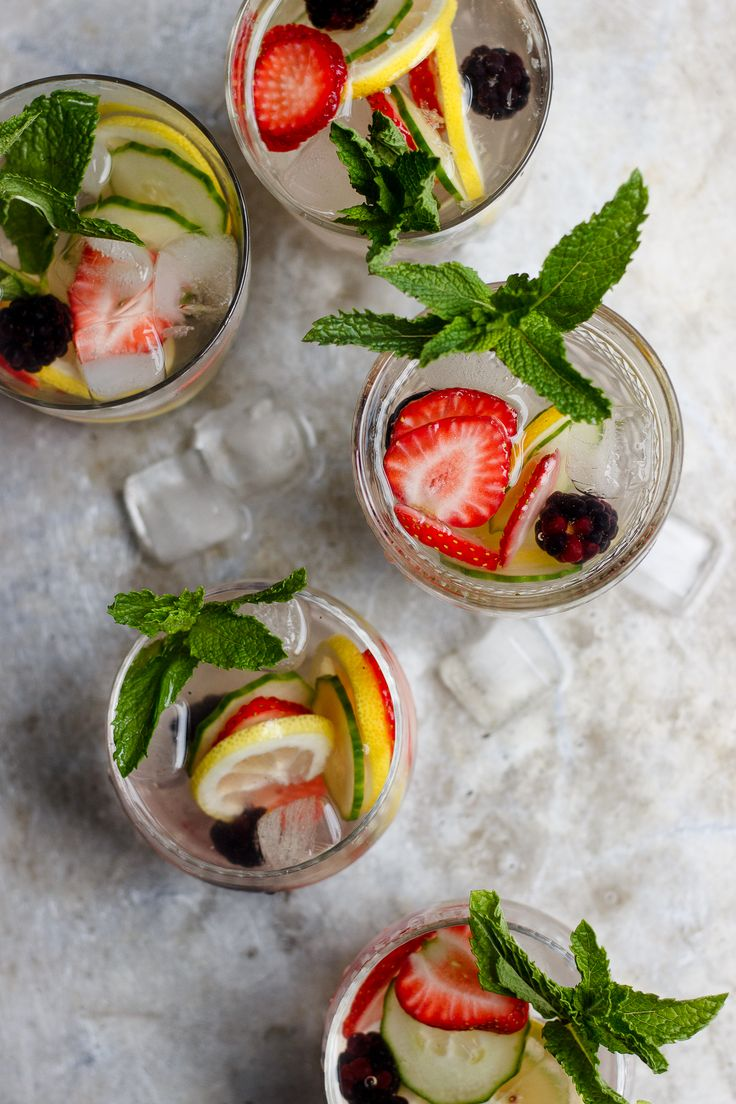 Pimm's Punch is light and refreshing with hints of fresh cucumber and strawberries. It is easy to whip up and is a real summer cocktail stunner.